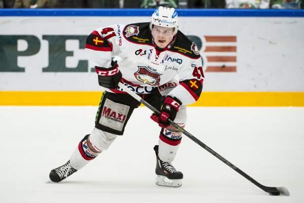 Malte Sjögren här i Malmös tröja Foto: Bildbyrån