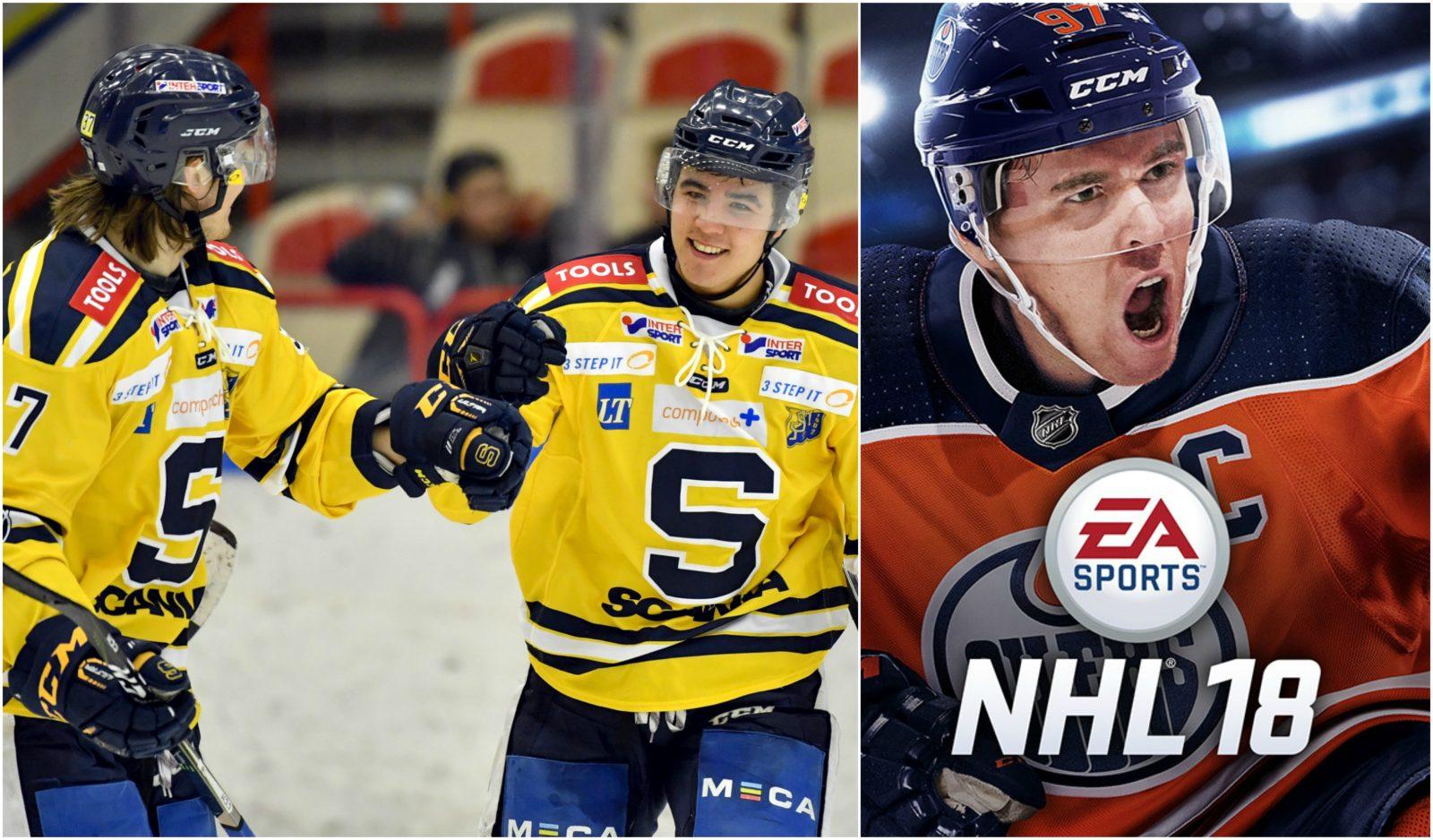 Nu blir HockeyAllsvenskan en del av tv-spelet – NHL 18