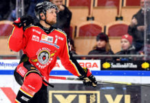 Johan Harju firar 1-0 målet. Foto: Bildbyrån