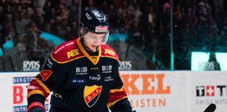 Djurgårdens Lukas Vejdemo efter semifinal 1 mellan Djurgården och Skellefteå den 3 april 2018 i Stockholm.