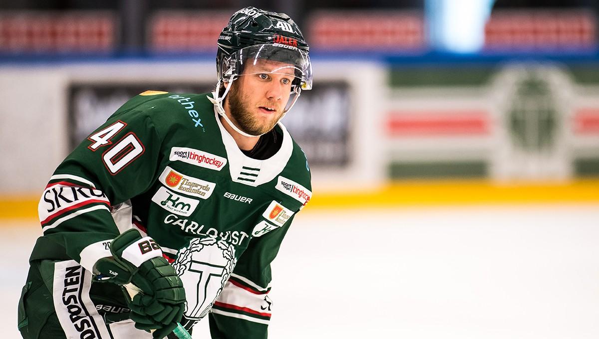 Forwarden lånas ut en månad från Hockeyallsvenskan