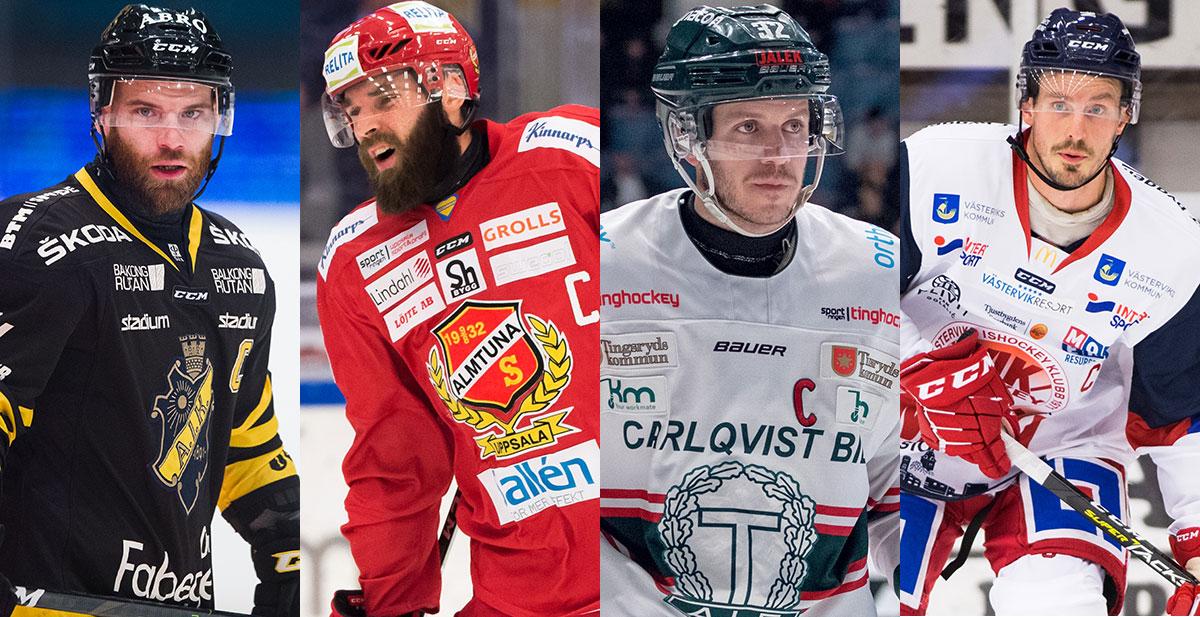 FANSENS FAVORIT: Hockeyallsvenskans mest populära kapten, kvartsfinal 1
