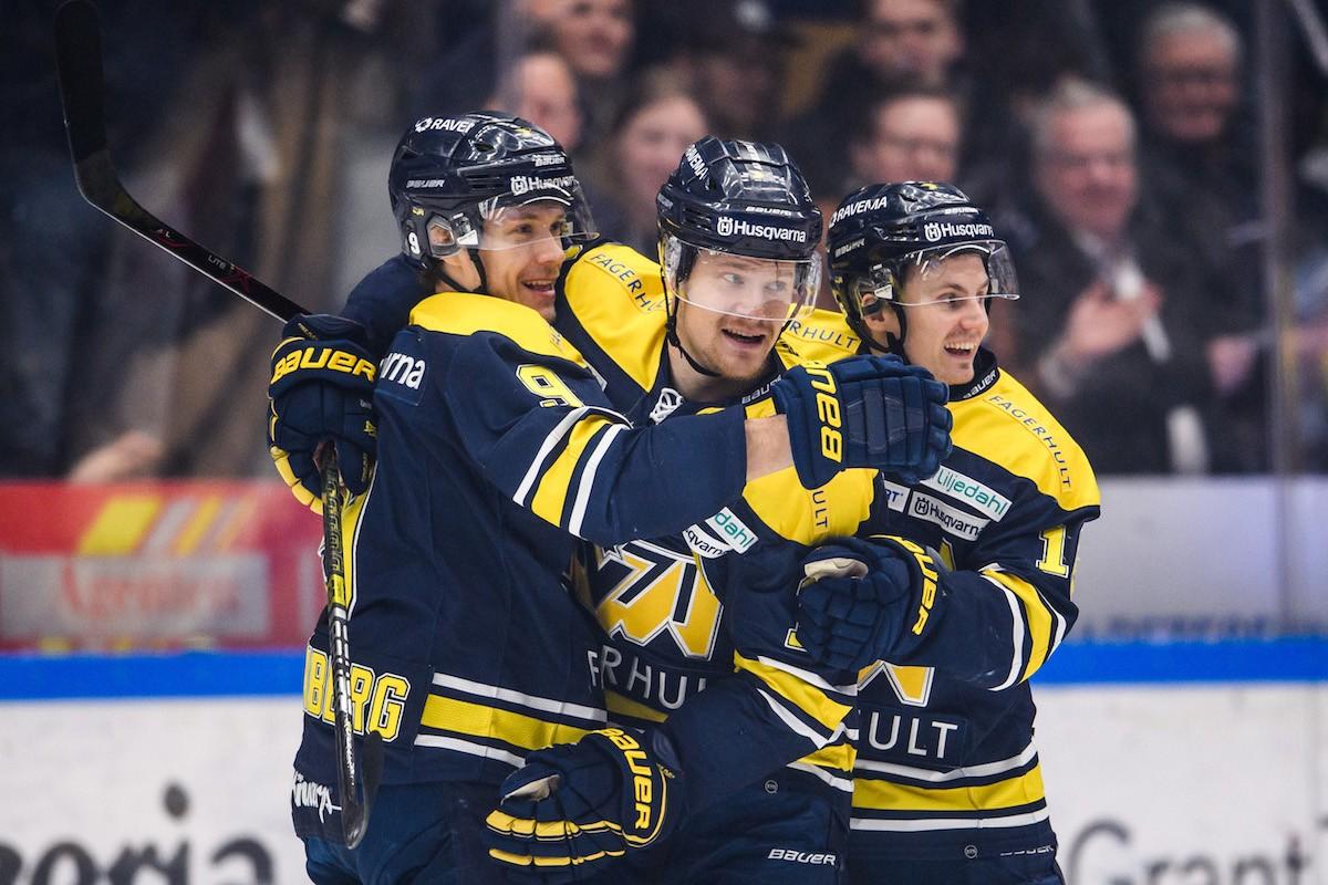 Fördel HV71 i åttondelsfinalen  – krossade Rögle på hemmaplan