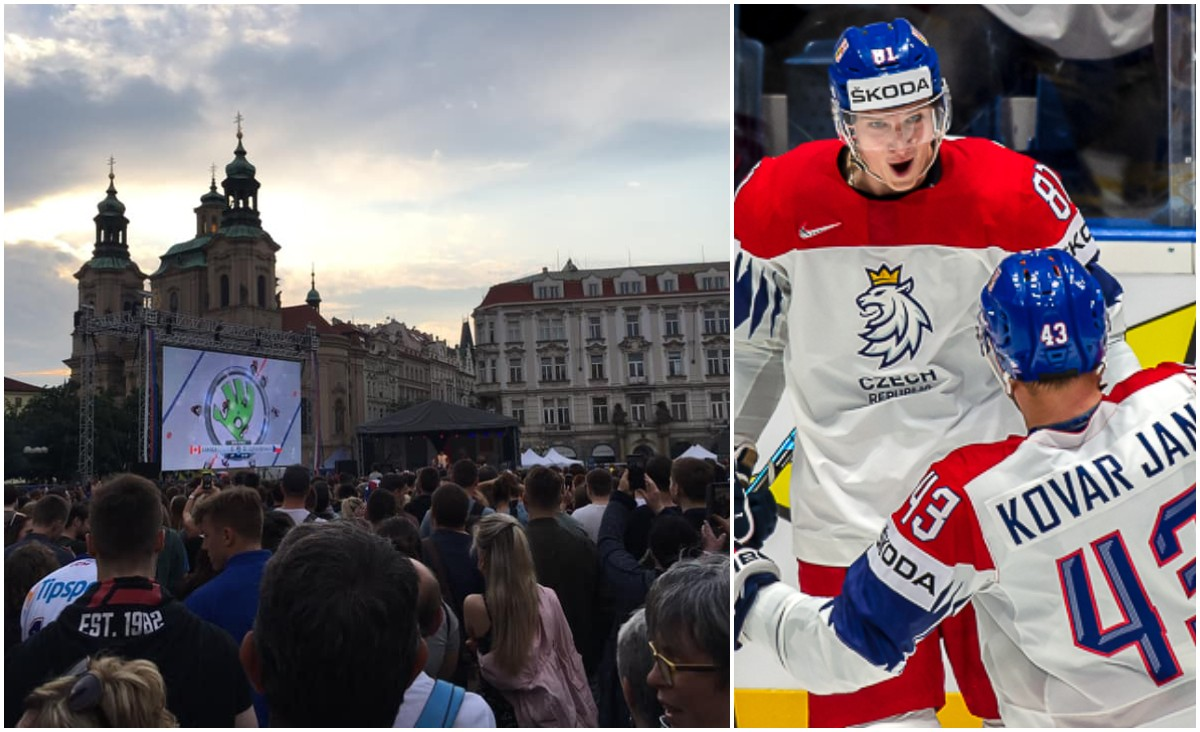 HOCKEY-VM: Tjeckiska folkfesten –ser semifinalen på storbildsskärm