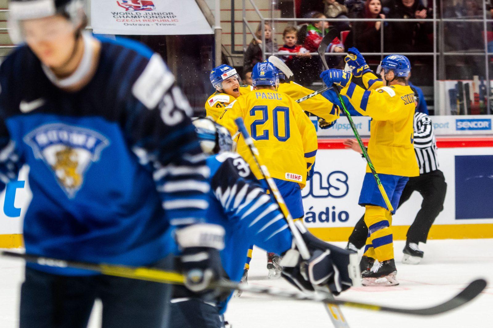JVM: Tre puckar Sverige – Finland