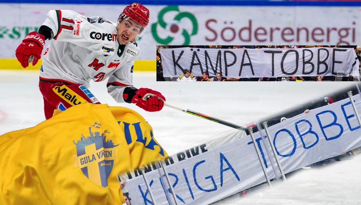 TOBIAS FORSBERG: Tröja signerad av Tre Kronor överlämnad till stiftelsen