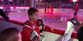 SÖTCHOCK: Åttaårige supporten agerar Speaker