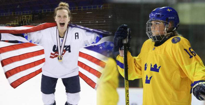 Regerande mästarna USA och Sverige kommer inte att spela i samma grupp