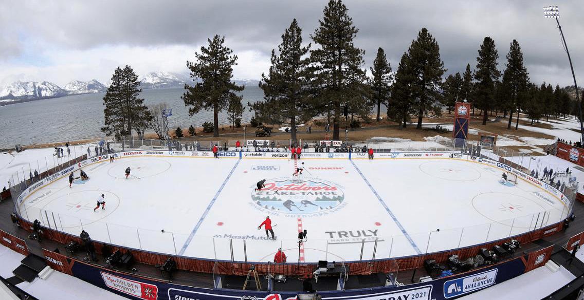 Ishockeymatch på golfbana? Ja, med vissa problem…